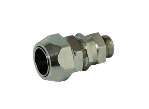 Double locking connectors for polyamide conduits - Swivel type