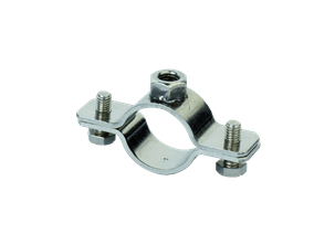 Heavy stainless steel conduit clip collar whit lock nut