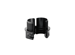 Polyamide connector for conduit with longitudinal cut